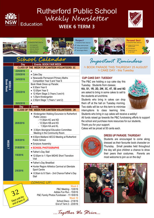 Rutherford Public School Term 3 Week 6 2016 Newsletter