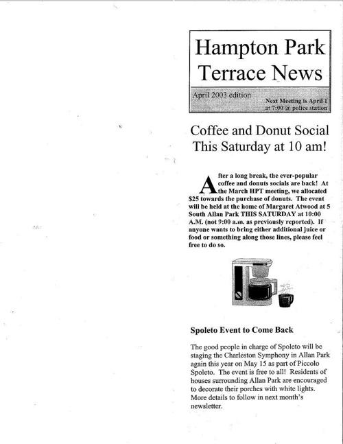 HPT Newsletter April-1 2003