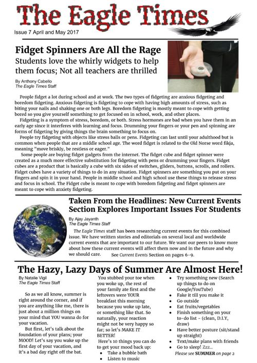 Issue 7 The Eagle Times