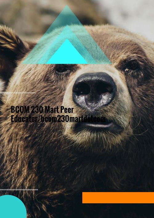 BCOM 230 Week 1 DQ 1