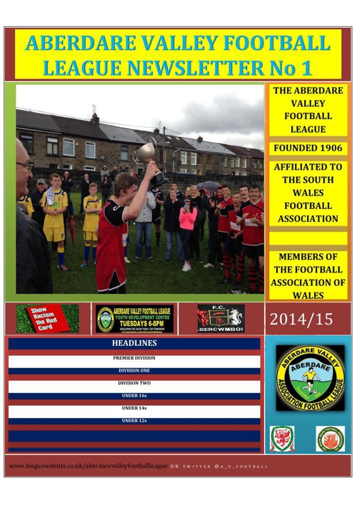 LEAGUE NEWSLETTER 1 14