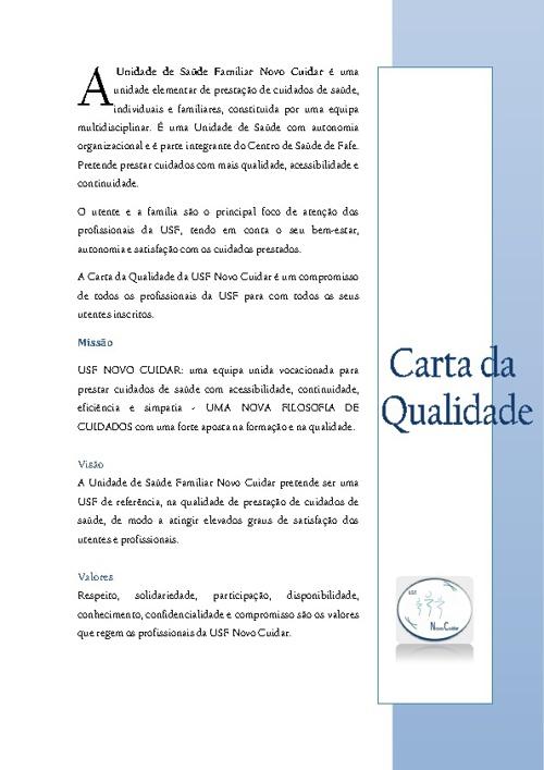 Carta da qualidade