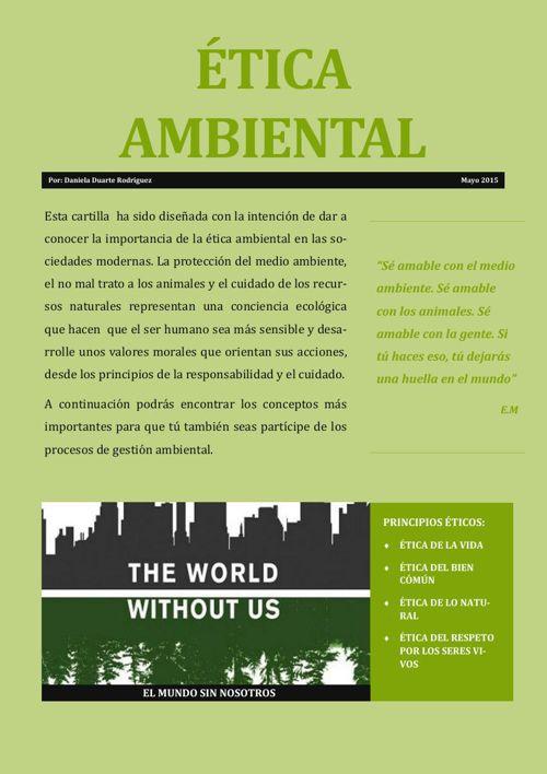 Cartilla Ambiental. Daniela Duarte Rodíguez