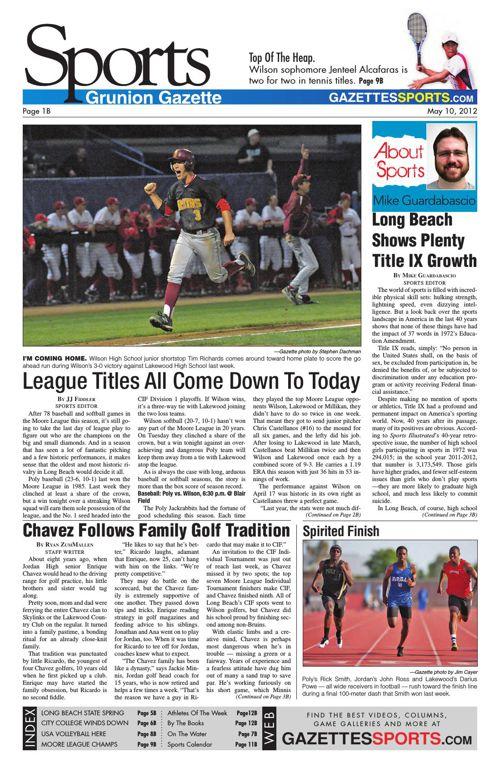 Gazette Sports | May 10, 2012
