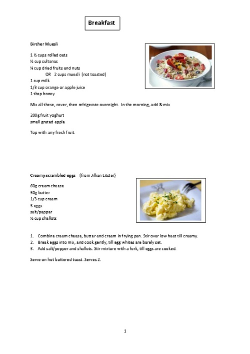Margie's tested recipes