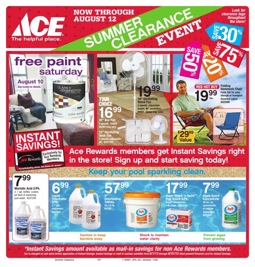AUGUST 2013 FRONTIER ACE HARDWARE