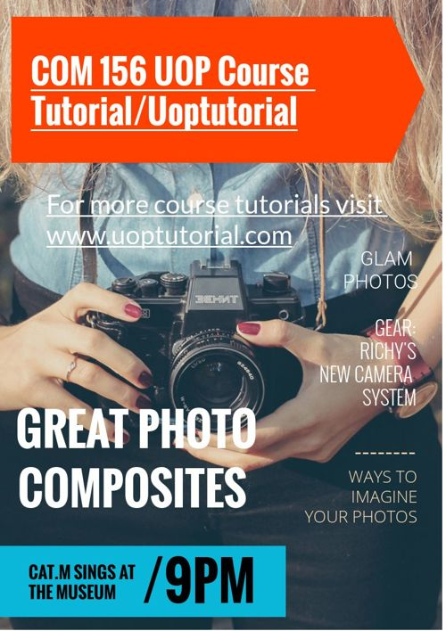 COM 156 UOP Course Tutorial/Uoptutorial