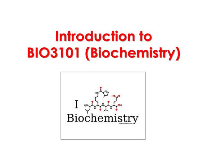 introduction to BIO3101