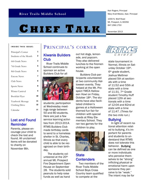 RTMS November Chieftalk