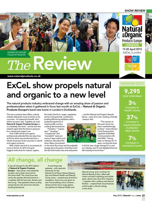 Natural & Organic Products Europe 2015 - Show Review