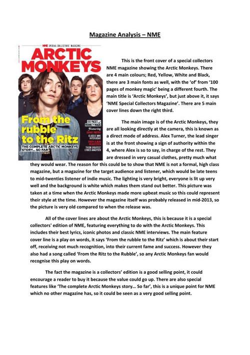 NME Mag Analysis