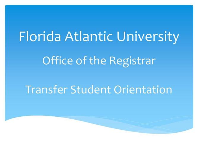 Office of the Registrar - Part 1