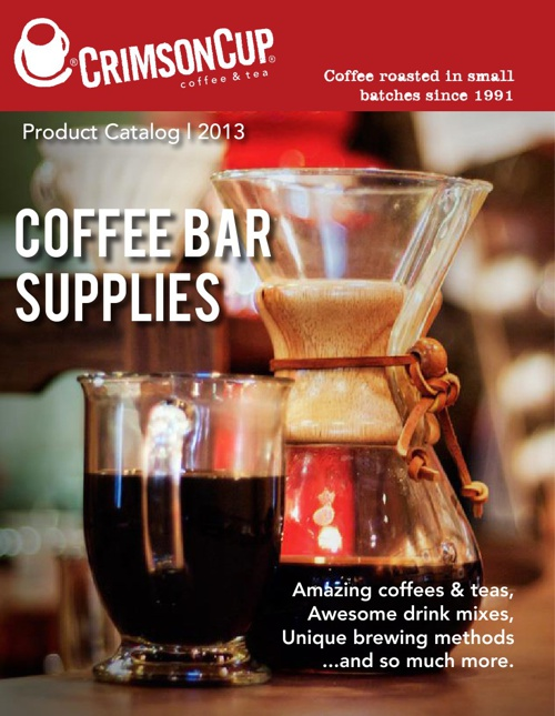 2013: Crimson Cup Product Catalog