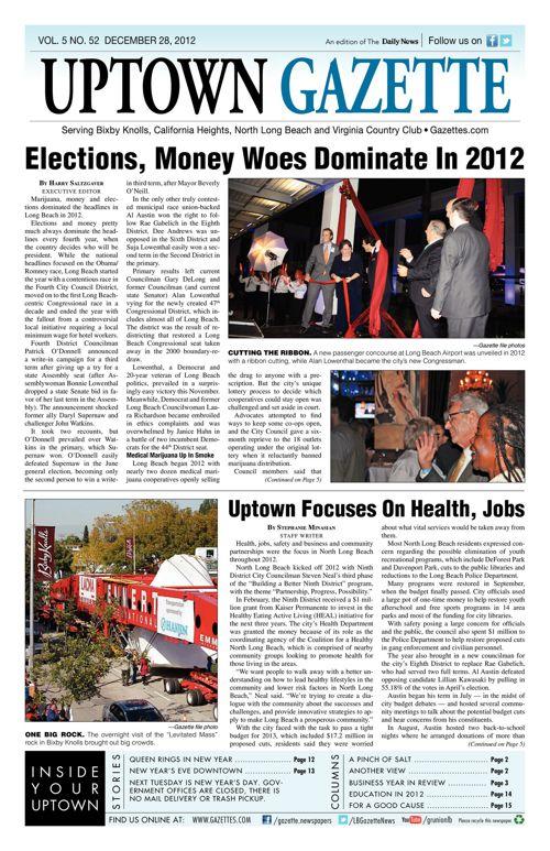 Uptown Gazette  |  December 28, 2012