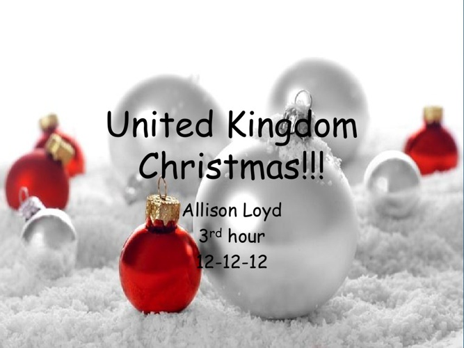 United Kingdom Christmas