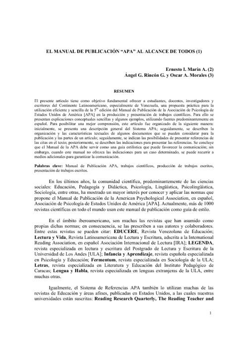 Manual APA al alcance de todos