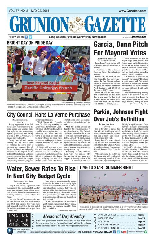 Grunion Gazette | May 22, 2014