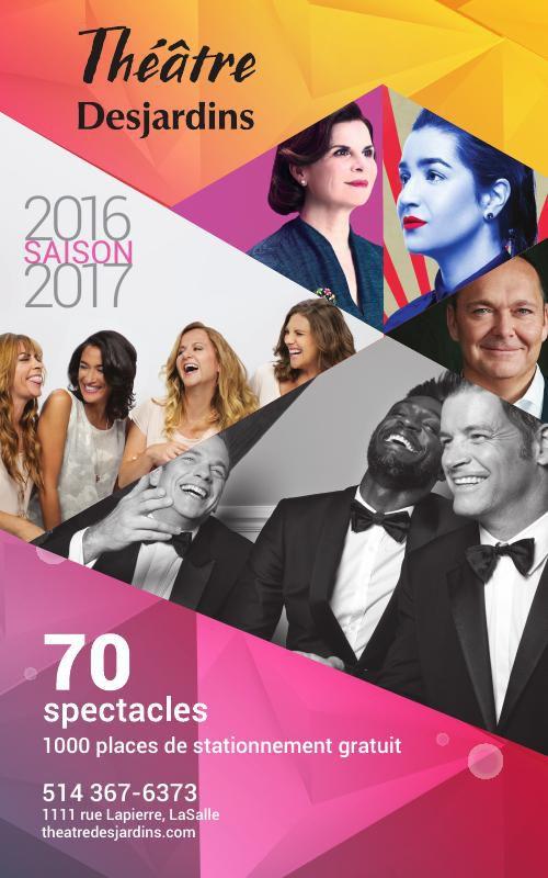 Programmation Théâtre Desjardins 2016-2017