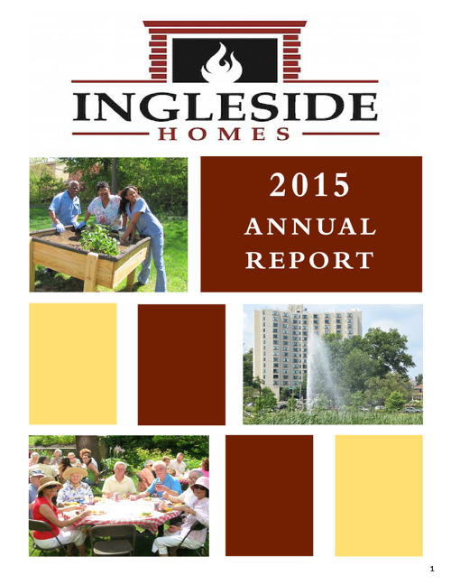 Ingleside Homes, Inc. 2015 Annual Report