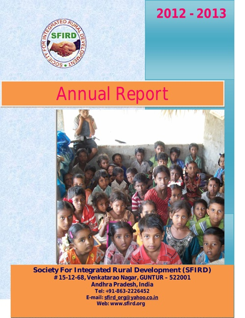 Annual Report_SFIRD_2012-13