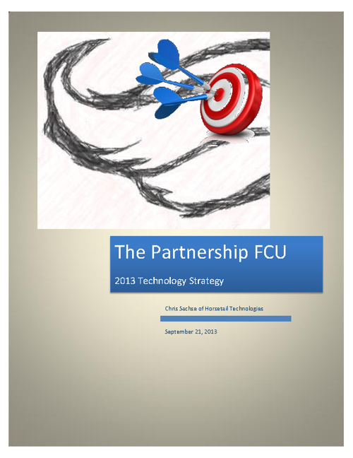 The Partnership FCU 2013 IT Strategy