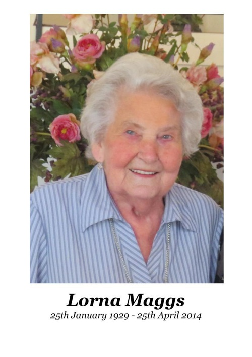 4 Order of Service for Lorna Maggs