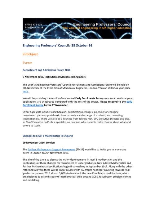 Engineering Professors' Council infoDigest 28 Oct 16