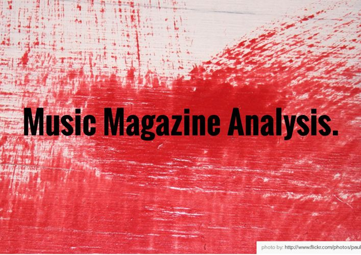Music Magazine Analysis