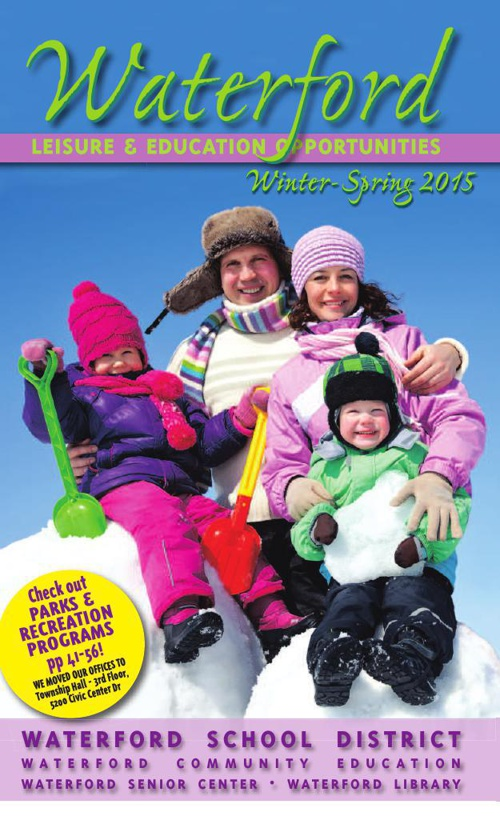 Waterford Leisure & Education Opportunities Winter/Spring 2015
