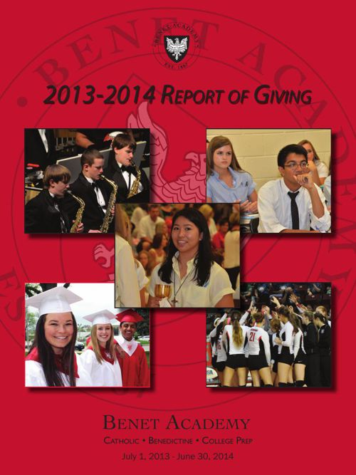 Benet Academy 2013-2014 Report of Giving