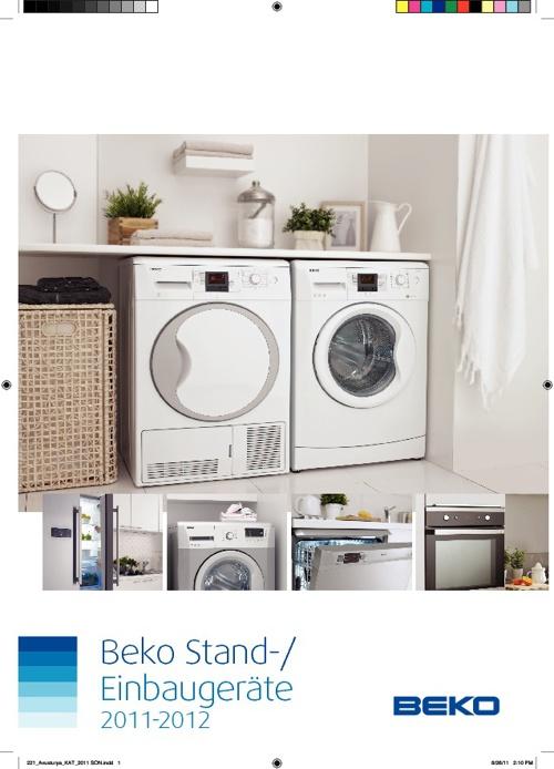 Beko Stand-/Einbaugeräte 2011-2012