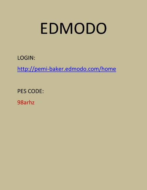 Edmodo User Guide