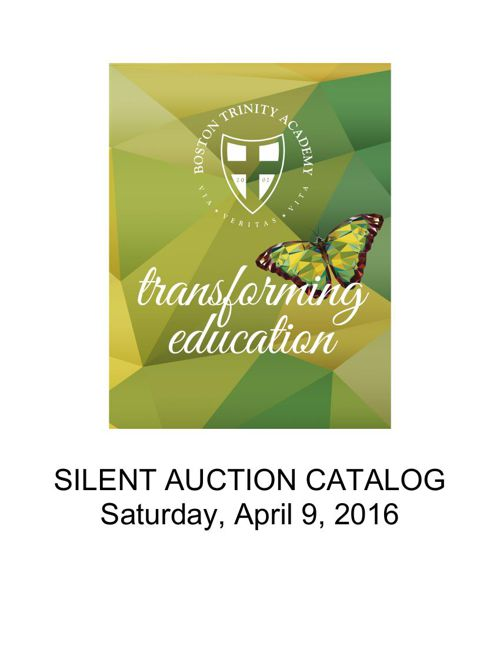 2016 Silent Auction Catalog