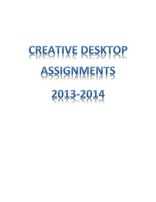 Mrs. Franklin's Desktop Publishing Class Brochures of Art