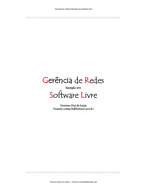 Monitoramento Redes com Software Livre