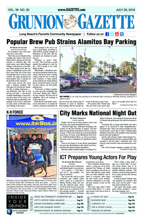 Grunion Gazette | July 28, 2016