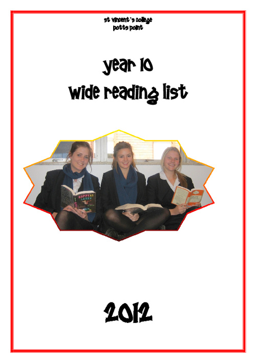 Year 10 Wide Reading List 2012