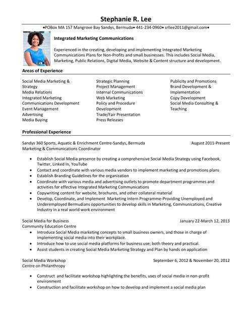 Stephanie Lee Resume