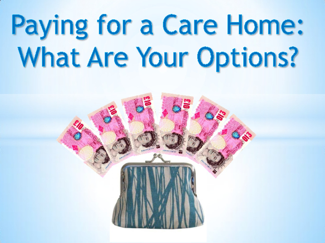 Paying for a Care Home