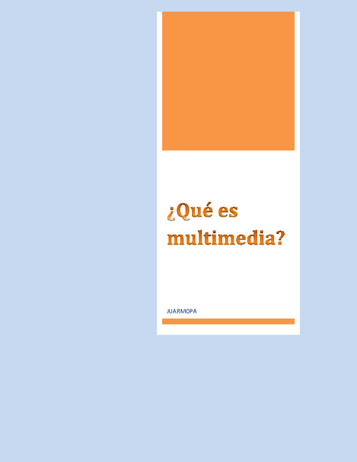 ¿Qué es multimedia?