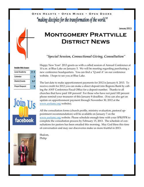 MTPT January 2013 Newsletter