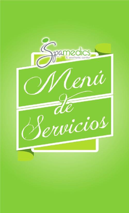 Menú de servicios Spamedics