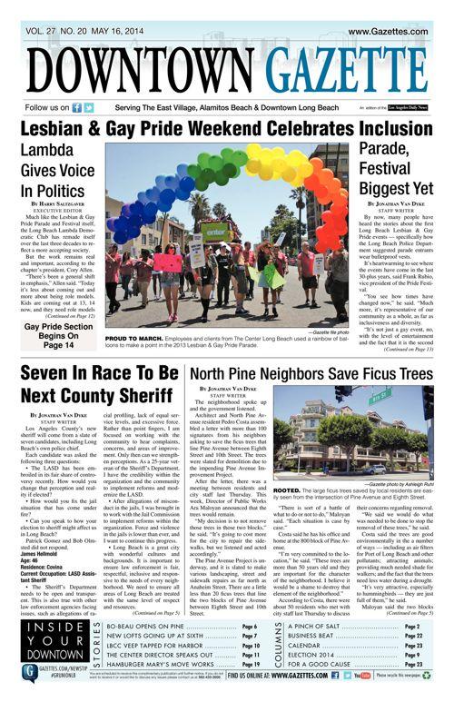 Downtown Gazette     May 16, 2014