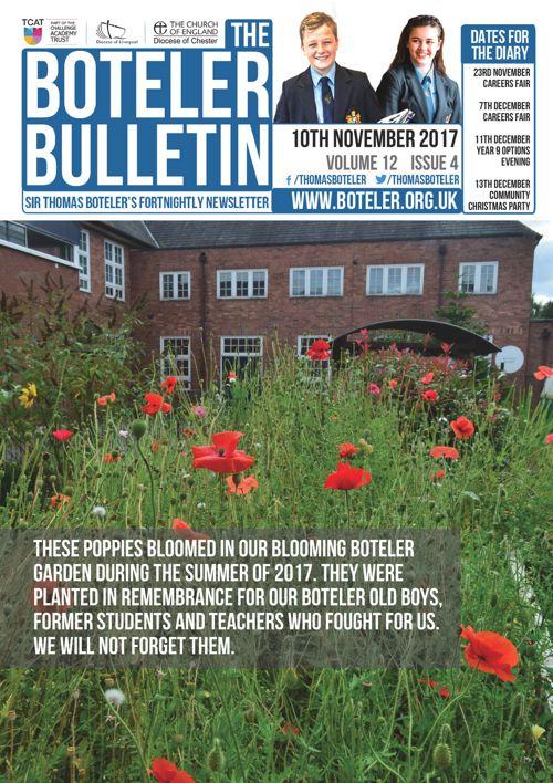 Boteler Bulletin 10th November 2017