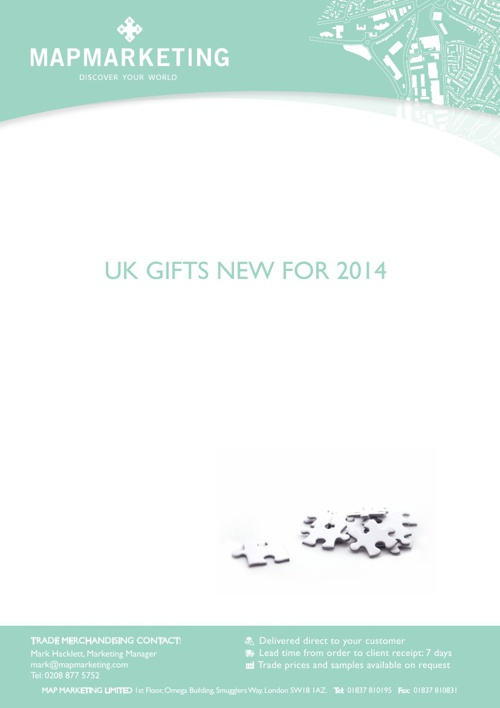 Map Marketing Gifts 2014