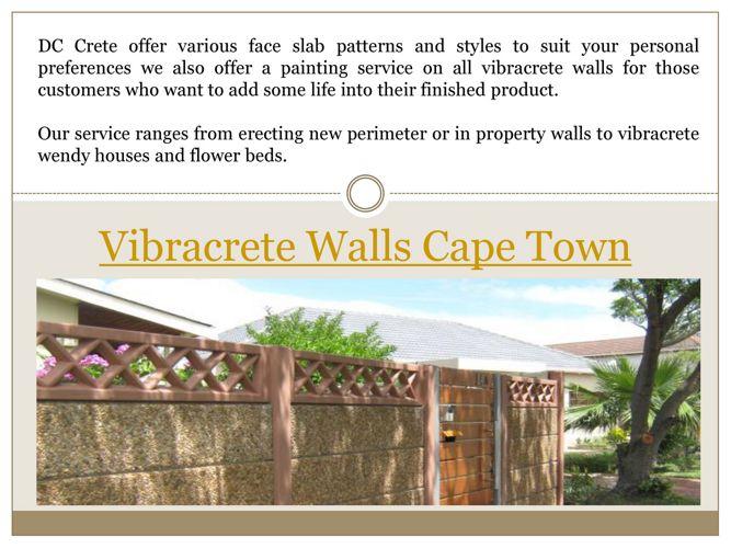 Vibracrete Walls Cape Town