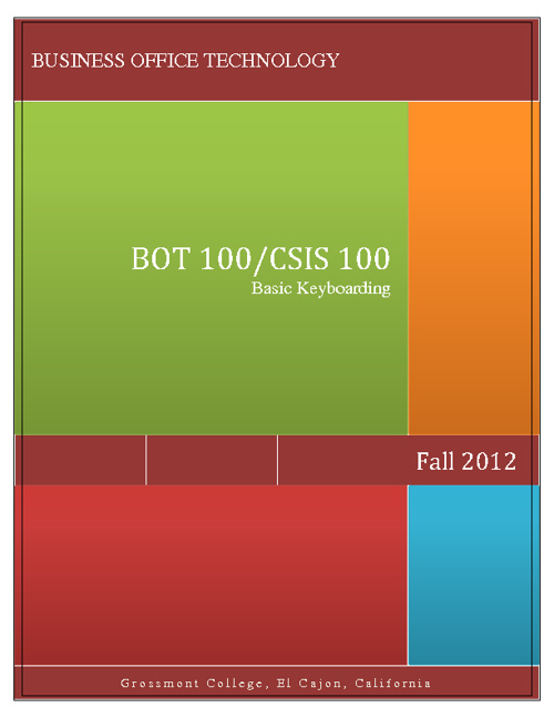 BOT-CSIS 100 Fall 2012 Syllabus