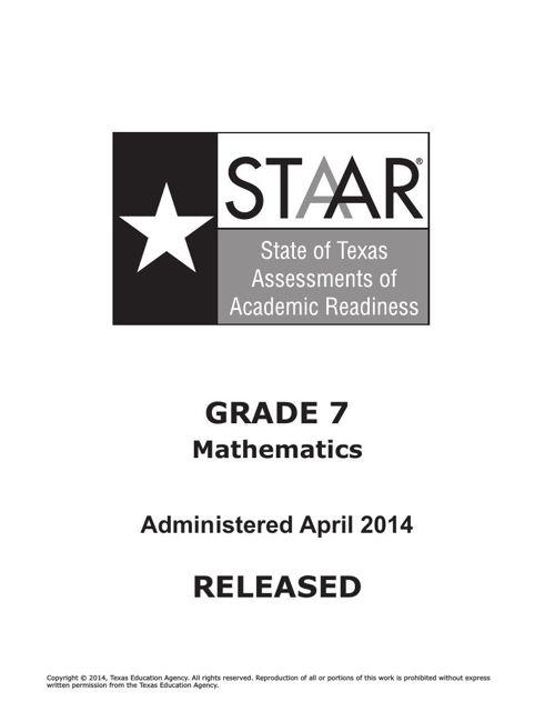 STAAR-G7-2014Test-math