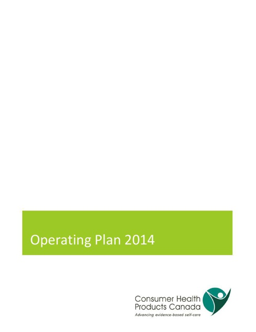 Operating Plan 2014:April Update