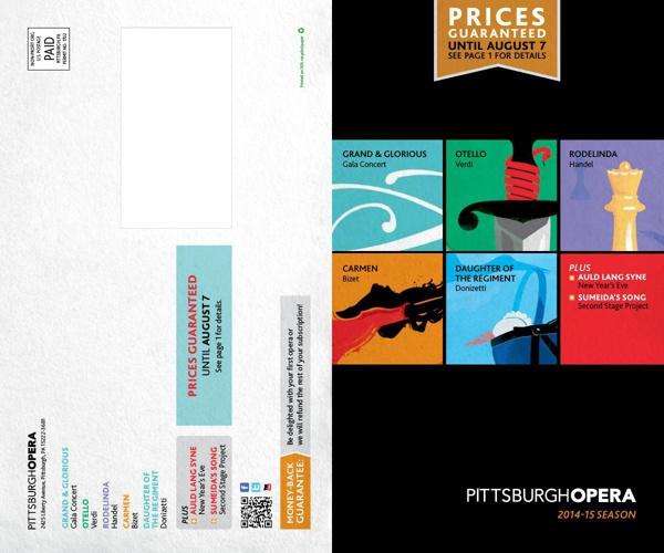 Pittsburgh Opera 2014-15 season: summer catalog
